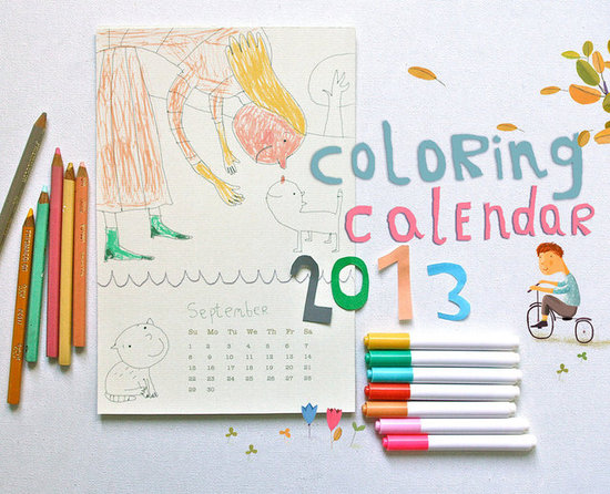 Be Happy Now Coloring Calendar