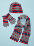 For a preppy look, choose the red, white, blue, and gray Boys Portolano 3 Piece Scarf Set ($74, originally $203).