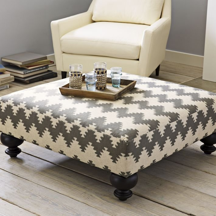West Elm Essex Upholstered Ottoman