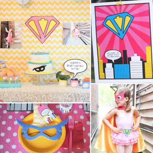 Birthday Parties: A Vintage Superhero Party For One Adventurous Lil Lady