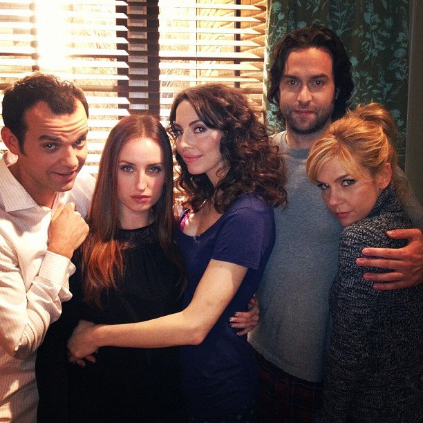 The cast of Whitney got close and personal. Source: Instagram user chrisdelia