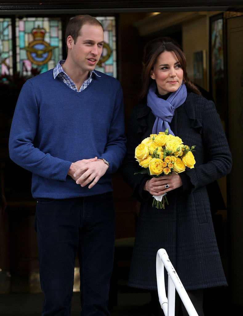 Kate Middleton wore a scarf in London.