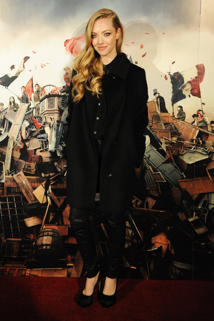Amanda Seyfried posed at Les Mis's afterparty.