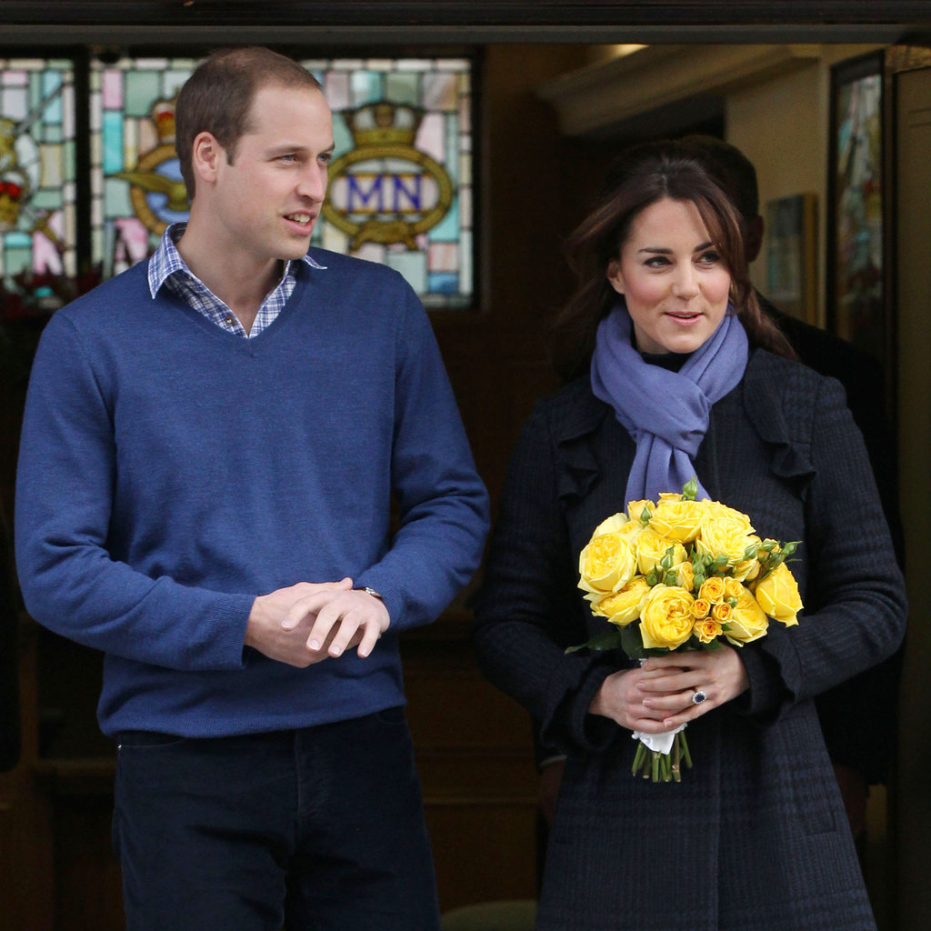 Kate Middleton carried flowers in London.