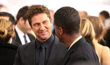Gerard Butler chatted with AJ Calloway at the Playing For Keeps premiere in NYC.