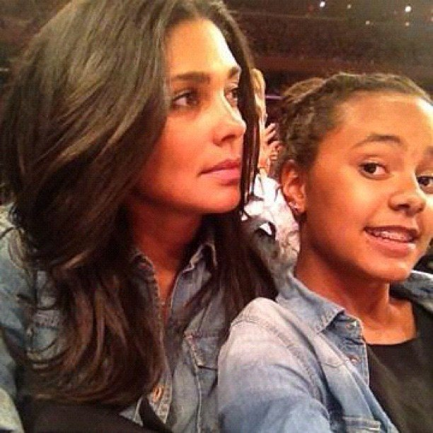 Rachel Roy and her daughter Ava matched their outfits for a basketball game. Source: Instagram user rachel_roy
