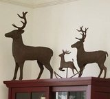 Get the look with these Metal Reindeer ($39-$95, originally $50-$119). Their rustic finish adds a wintry feel and holiday presence to any room.