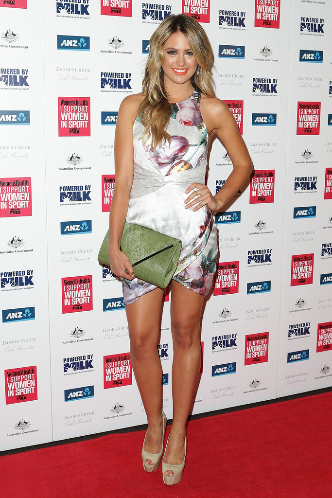 Jesinta Campbell lit up the red carpet on December 4 as she attended the I Support Women in Sport Awards in Sydney.