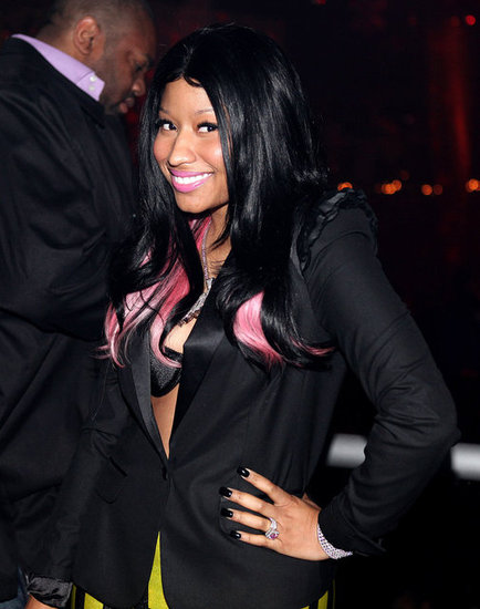 Nicki, in nearly all-black hair, was almost unrecognizable at one of her first appearances in 2009.
