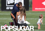 Tom and Gisele kissed at a Boston practice session for the Patriots in August 2012.