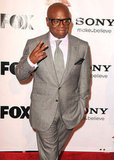 L.A. Reid flashed a peace sign.