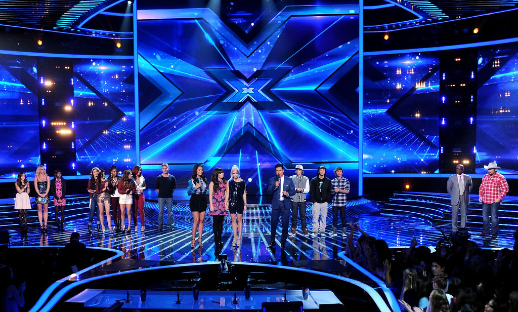The final contestants took the stage during The X Factor's results show.