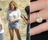 Miley Cyrus received a custom Neil Lane creation from fiancé Liam Hemsworth in June. Liam and Neil created a special band featuring a 3.5-carat diamond ring in an 18-karat gold setting.