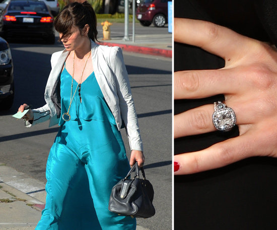Following a holiday 2011 proposal, Jessica Biel showed off her Justin Timberlake-designed ring for the first time in March.