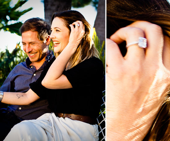 Drew Barrymore started the year by announcing her engagement to Will Kopelman and showed off the nearly four-carat diamond ring she received, designed by Graff. Image courtesy of David Khinda