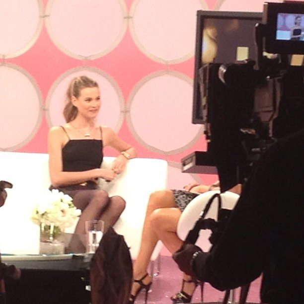 We spied the always-gorgeous Behati Prinsloo talking about her Angel status during the preshow.