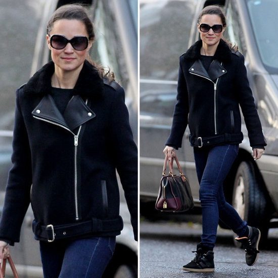 Pippa Middleton traded in her girlie looks for this edgier ensemble — and made us want to do the same.