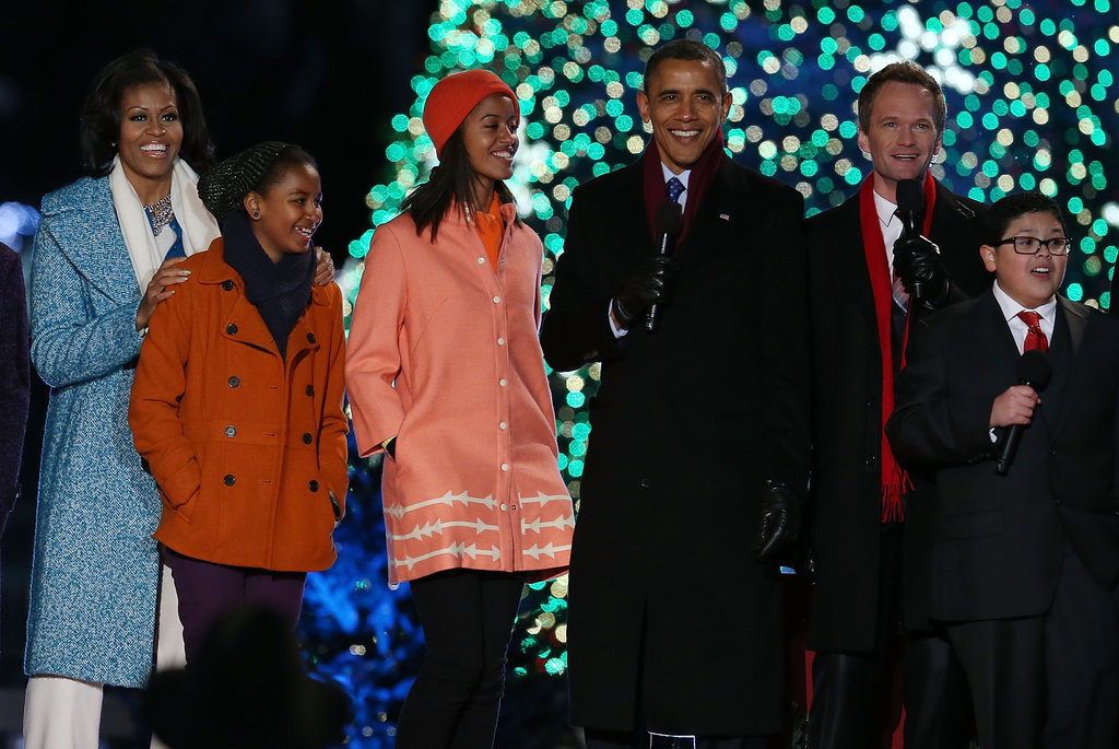 The Obamas took the stage with Neil Patrick Harris and Rico Rodriguez.