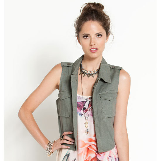 A sleeveless vest will give your 'fit style, but in a utilitarian way. Hello extra pockets! Vest, $49.95, Dotti