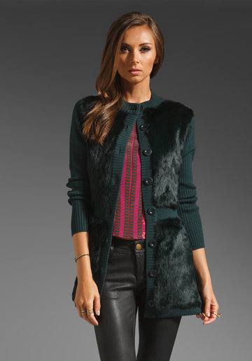 Add a luxe touch to your Winter look with Nanette Lepore's Divine knit sweater coat ($598).