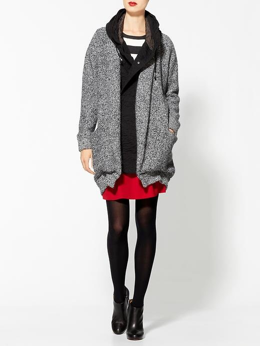 Maison Scotch's sweater coat ($290) is slouched to perfection.