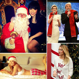 Pictures: Celebrities Get Into Christmas Spirit