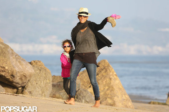 Halle Berry and daughter Nahla had a beach day in California.
