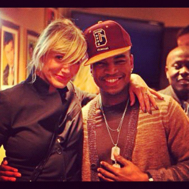 Cameron Diaz stopped by the SNL studios and posed backstage with Ne-Yo. Source: Instagram user neyoisred