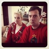 Colin Hanks didn't seem to happy about his holiday sweater. Source: Instagram user colinhanks