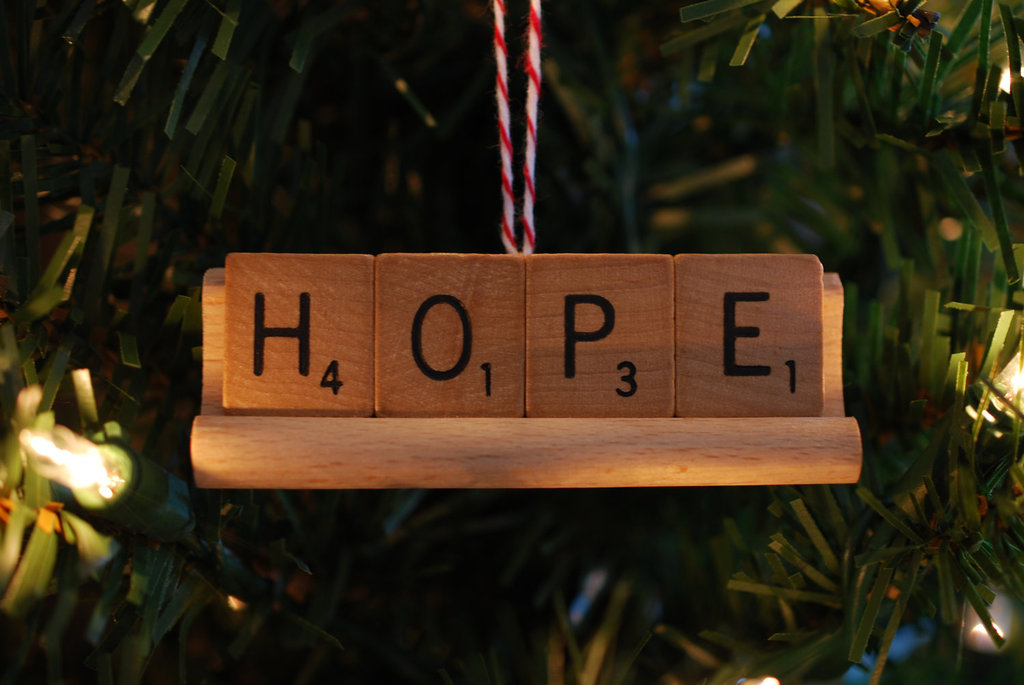 Scrabble-Piece Ornaments