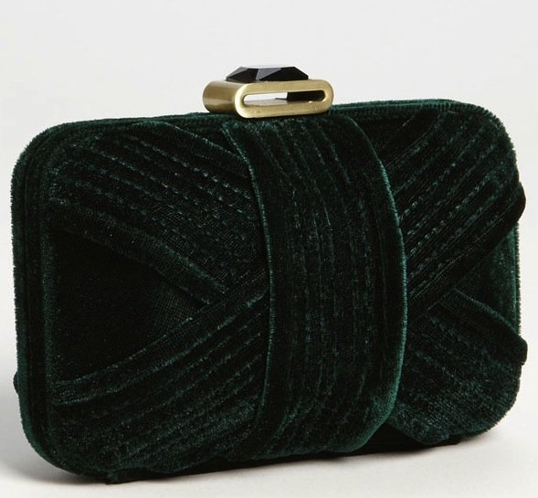 The Glint velvet minaudière box clutch ($78) is just what your go-to LBD needs. It's vintage-inspired, luxe-looking, equipped with a chain strap (just in case), and, oh yeah, it's in the prettiest shade of emerald.