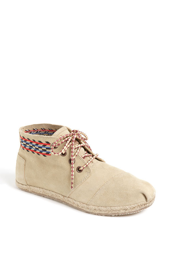 "TOMS is famous for its ""one for one"" philosophy, and by purchasing these Botas Desert Alarco Chukka Boots ($75), you'll send a pair of shoes to a child in need."