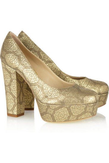 How amazing would Stella McCartney's gold brocade pumps ($332, originally $830) look with slouched jeans and a chubby knit sweater?