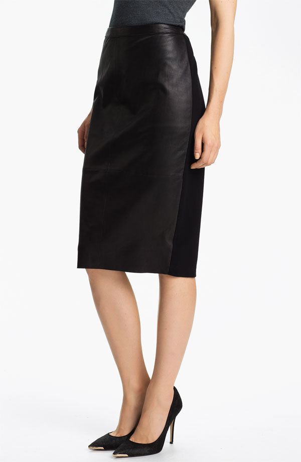 What's fabulous about this Trouve leather pencil skirt ($148) is that the back is knit, which means it'll be chic and comfortable. Win, win.
