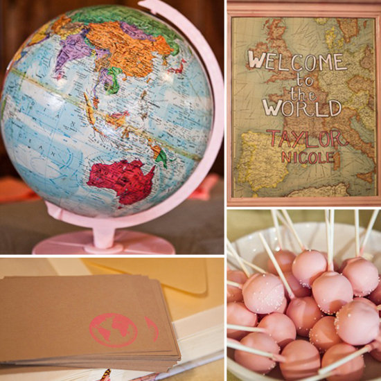 Baby Showers: A Vintage Map Sip-and-See