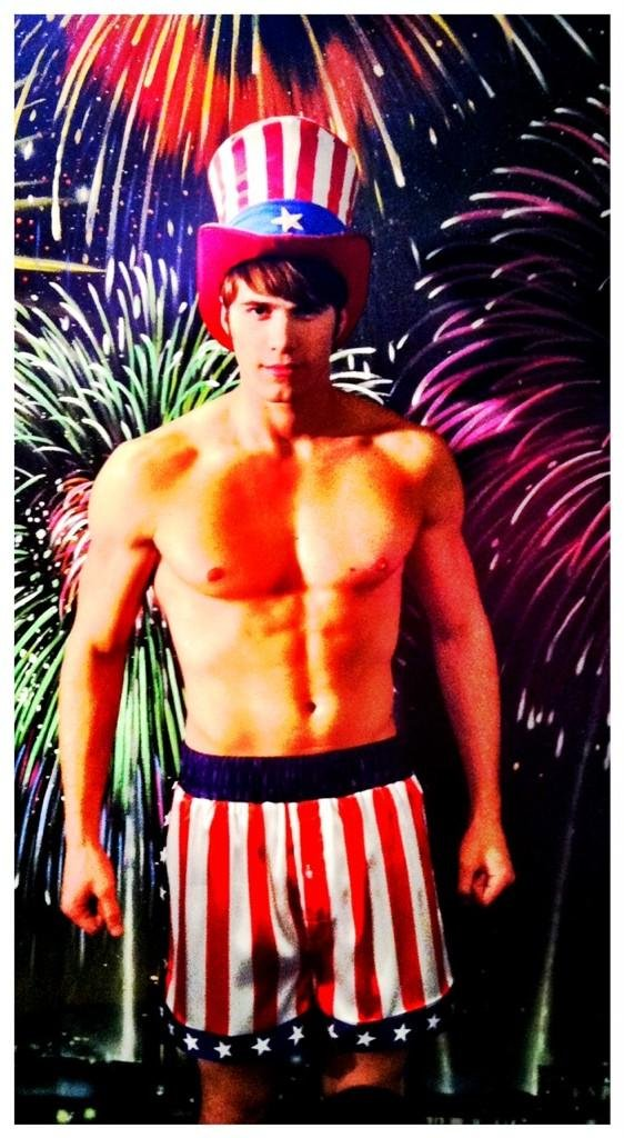 Ryan Murphy teased a picture of Blake Jenner, aka the Mr. July of Glee's McKinley High. Source: Twitter user MrRPMurphy