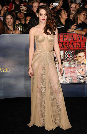 Kristen Stewart showed off more than her smile in a sheer, corseted Zuhair Murad gown that created quite a stir at the LA premiere of Breaking Dawn Part 2 in November. — Meghan Rooney, editorial assistant