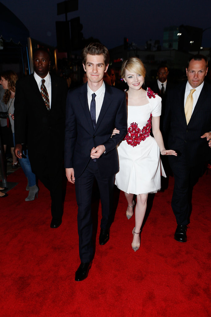 Are they or aren't they? We were all wondering Andrew Garfield and Emma Stone's relationship status for months, and when the pair stepped out for June's LA premiere of The Amazing Spider-Man, it was clear they were a very happy couple, on and off the screen.  — Katie Henry, associate editor