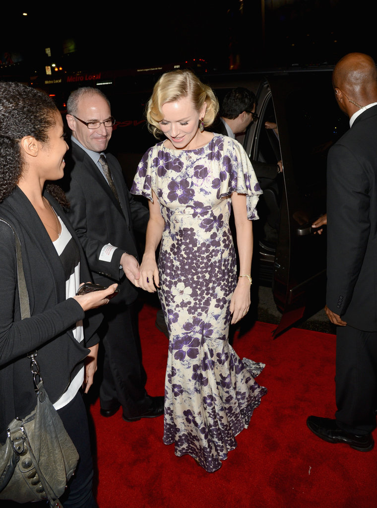 Naomi Watts wore a Zac Posen gown.