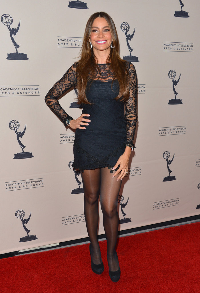 Sofia Vergara wowed on the red carpet this August in a black lace minidress from For Love and Lemons.