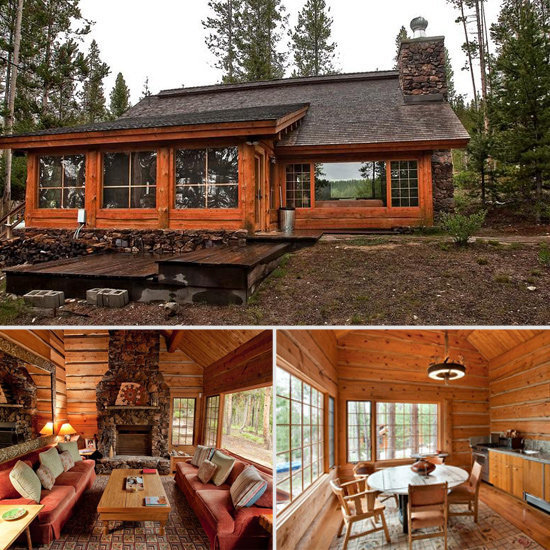 Bruce Willis listed his trio of stately lakeside cabins in Idaho for $4 million.  Source: Sotheby's