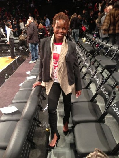 Theresa after Sunday's Nets game