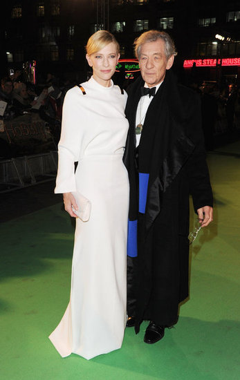 Cate Blanchett hit the green carpet with Ian McKellen.