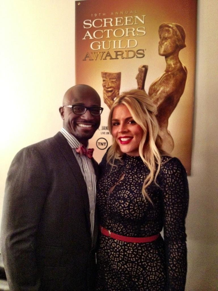 Busy Philipps and Taye Diggs announced the SAG Awards nominees. Source: Twitter user Busyphilipps25