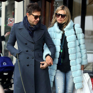 Kate Moss Wears Baby Blue Fur Coat | Pictures