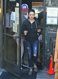 Mila Kunis was out in LA with her boyfriend, Ashton Kutcher.