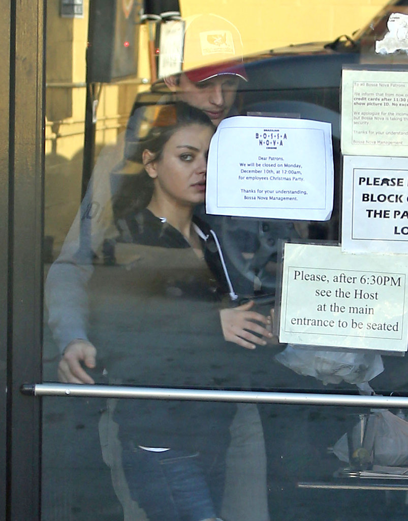 Mila Kunis and Ashton Kutcher stepped out in LA.