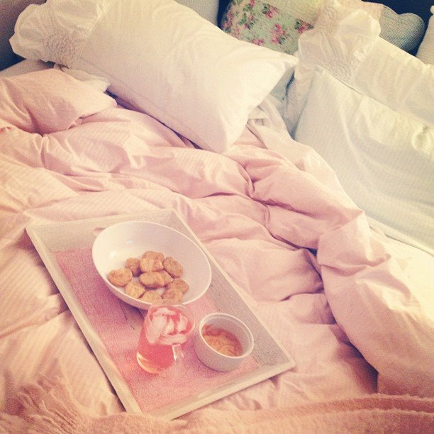 Enjoy Dinner in Bed