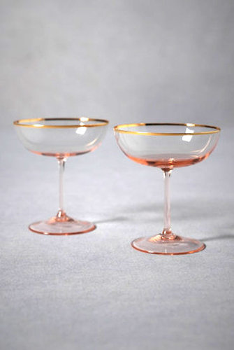 Gilded Champagne Flutes