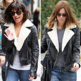 Score Mandy Moore and Lea Michele's Shearling Leather Jacket Pronto!